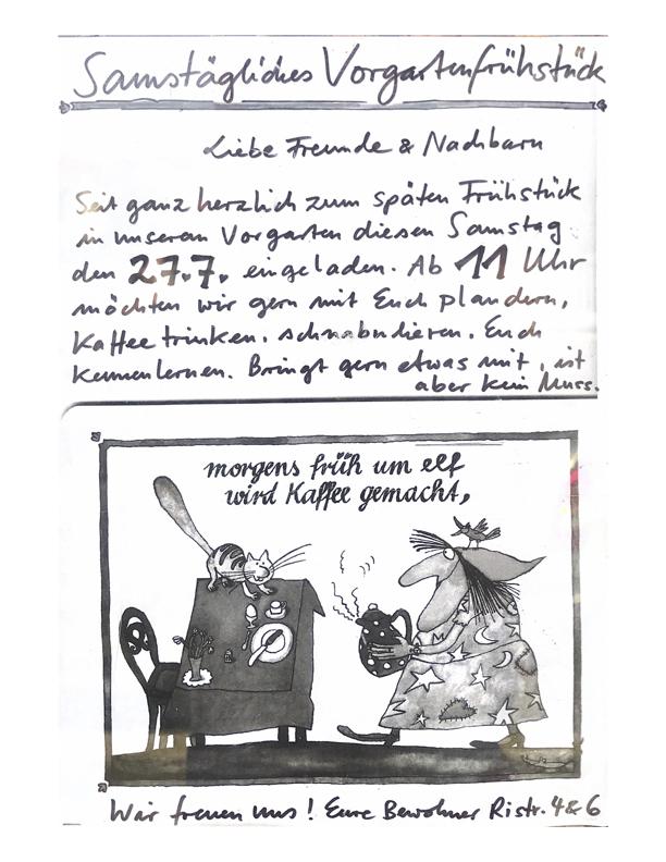 Foto/Grafik Einladung Frühstück