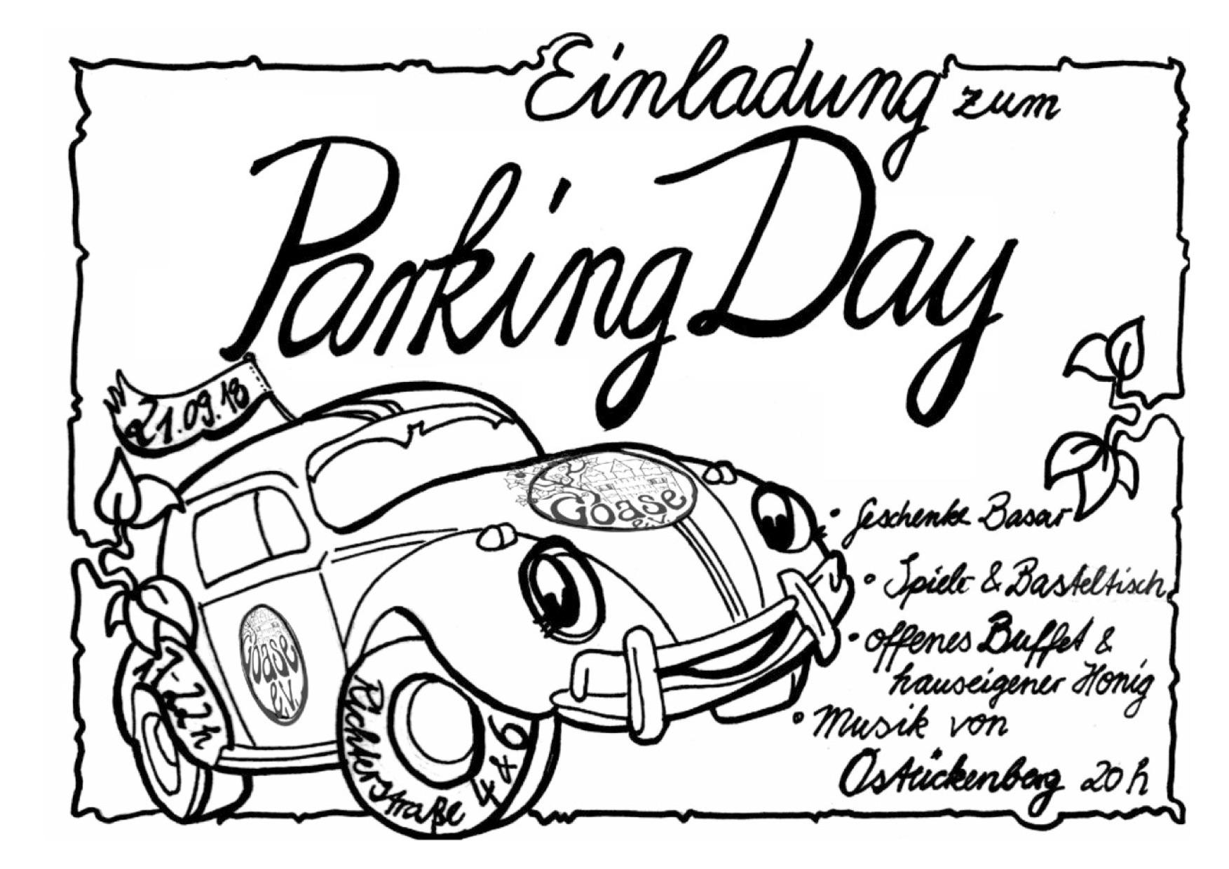 Einladung zum PARK(ing) Day 21.9.2018