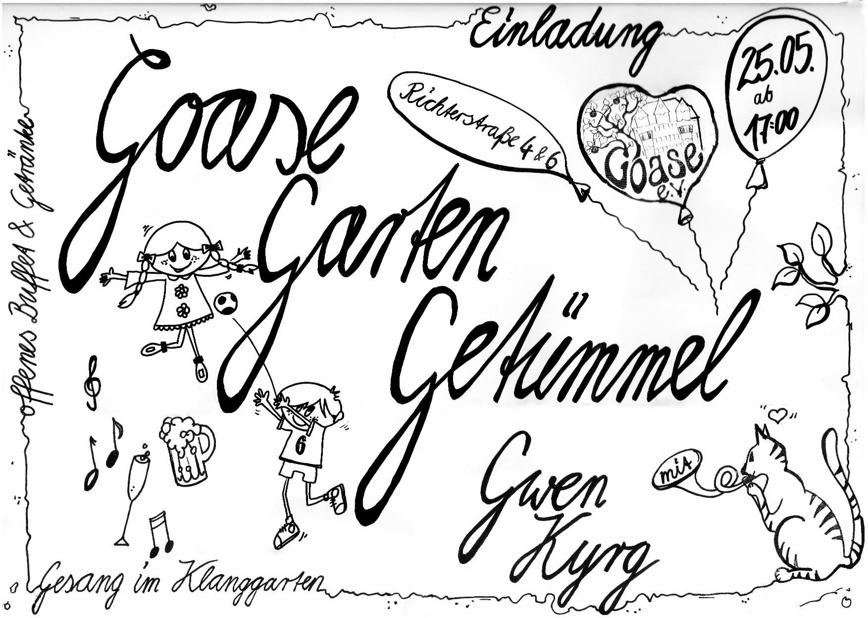 Einladung zum Tag der Nachbarn in der Richterstrasse Leipzig-Gohlis